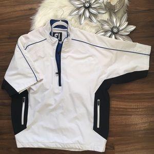 FootJoy Jackets & Coats - FJ FootJoy Short Sleeve Pullover Windshirt XL